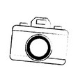 drawing photo camera picture flash lens icon vector image vector image