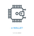e-wallet line flat icon vector image
