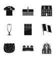 english tasty icons set simple style vector image vector image