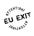 EU Exit rubber stamp vector image
