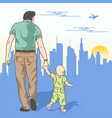 father and son vector image vector image