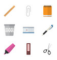 flat icon equipment set of fastener page vector image vector image