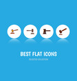 flat icon lawyer set of legal government building vector image vector image