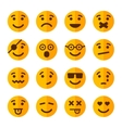 Flat Style Smile Emotion Icons Set vector image vector image