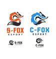 fox logo forming initials c and s vector image vector image
