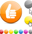 Good glossy button vector image vector image