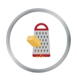 Grating cheese icon in cartoon style isolated on vector image