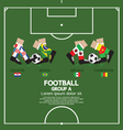 Group A Football Tournament vector image vector image