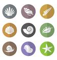 group shellfish in circle vector image
