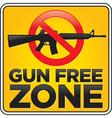 Gun free zone sign assault rifle vector image vector image