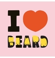 I love beard vector image