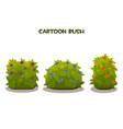 isolated cartoon green vector image
