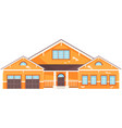 large yellow residential building house vector image