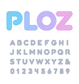 Linear font alphabet with stripes effect letters vector image vector image