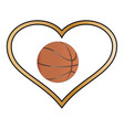 love basketball vector image vector image