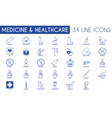 medicine and healthcare icon pack vector image vector image