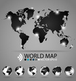 Modern world map design