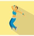 nice dance flat symbol vector image vector image