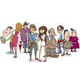 people group cartoon vector image vector image