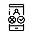 phone call icon outline vector image