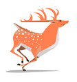 rapid run dappled deer vector image vector image