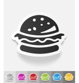realistic design element hamburger vector image vector image