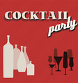 Retro Coctail party invitation card vector image