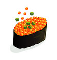 salmon spawn sushi or sashimi wrapped with vector image
