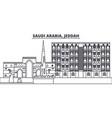 saudi arabia jeddah line skyline vector image