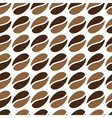 seamless coffee beans vector image vector image