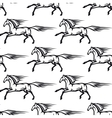 Seamless pattern of galloping horses vector image vector image