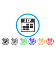 september calendar grid rounded icon vector image vector image