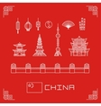 set china buildings pagoda vector image vector image