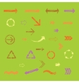 set of arrows vector image