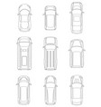 set of cars top view vector image vector image