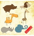 Set of wild animals vector image