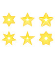 set star icon golden star on blank background vector image
