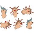 Small hedgehogs clip art vector image vector image