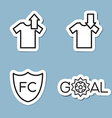 soccer line icon set vector image vector image