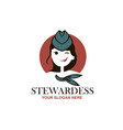 stewardess with neckerchief vector image
