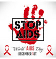 stop aids poster vector image
