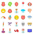 strain icons set cartoon style vector image vector image