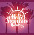 summer tropical banner with palm trees vector image