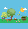 summer useful to relax in park nature outdoors vector image vector image