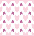 symmetric seamless pattern of colorful hearts on a vector image
