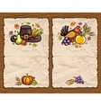 thanksgiving cards vector image vector image
