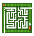 top view maze aerial view hedge labyrinth with vector image