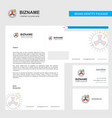 turbine business letterhead envelope and visiting vector image vector image