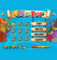 underwater fish game template vector image vector image
