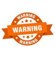 Warning ribbon warning round orange sign warning